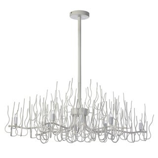 Dainolite White 8-light Oval Twig Chandelier
