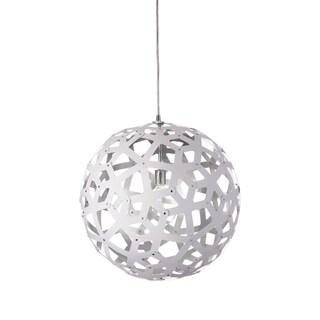 Dainolite White/Silver Steel 18-inch 1-light Kirigami Pendant