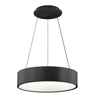 Dainolite Black 30-watt LED 18-inch Pendant