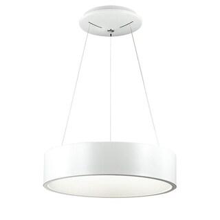 Dainolite White 30-watt LED 18-inch Pendant