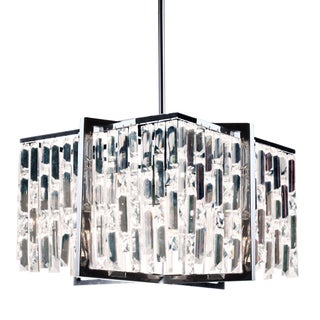 Dainolite Polished Chrome Crystal 4-light 16-inch Chandelier