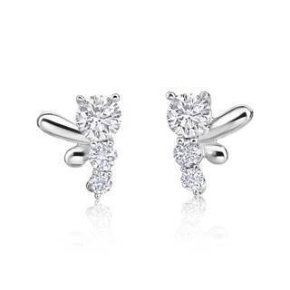SummerRose 14-karat White Gold 3/4-carat TCW Diamond Earrings