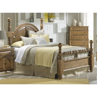 Surrey Bay Brown Pine Wood Poster Bed