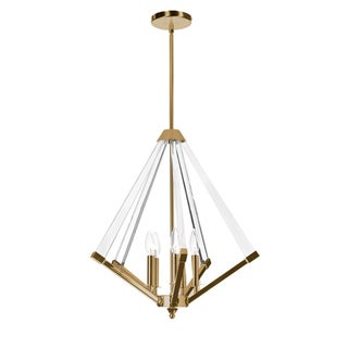 Dainolite Vintage Bronze Steel 5-light Chandelier with Acrylic Arms