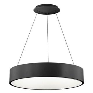 Dainolite Black Steel/Acrylic 24-inch Diameter 36-watt LED Pendant