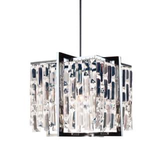 Dainolite Polished Chrome Four-light 12-inch Crystal Chandelier