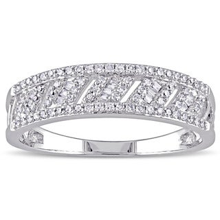 Miadora 14k White Gold 1/4ct TDW Diamond Band