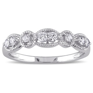 Miadora 14k White Gold 1/4ct TDW Diamond Ring