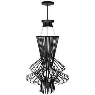 Dainolite Black Wire Chime 25-inch 4-light Pendant