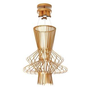 Dainolite Gold Wire Chime 25-inch 4-light Pendant