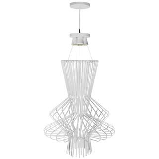 Dainolite White Wire Chime 25-inch 4-light Pendant