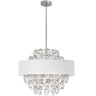 Dainolite White Glass Loop 12-light Chandelier with Shade