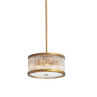 Dainolite Vintage Bronze Steel 4-light Pendant with Crystal Rods