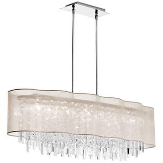 Dainolite Crystal 8-light Horizontal Chandelier