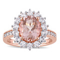Morganite Size 5 4-5 mm Bridal Sets Under $200