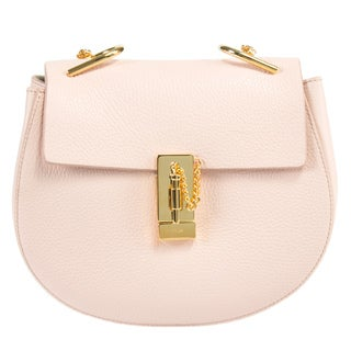 Chloe Drew Medium Pink w/Gold Hardware Chain Shoulder Handbag