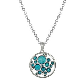 Jewelry by Dawn Turquoise Blue Bubbles Stainless Steel Chain Necklace - Aqua|https://ak1.ostkcdn.com/images/products/12012420/P18888961.jpg?impolicy=medium