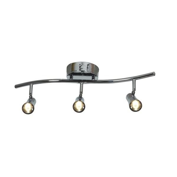 Access Lighting Sleek Steel 3 Light LED Spotlight Semi-flush Mount - Silver