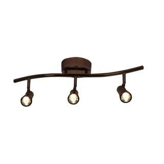 Access Lighting Sleek Bronze 3 Light LED Spotlight Semi-flush Mount