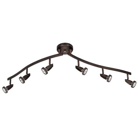 Mirage 6-light Bronze LED Spotlight Semi-flush Mount