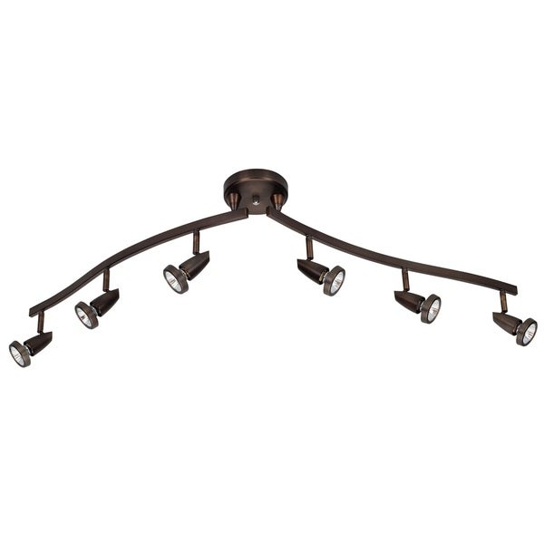 Mirage 6-light Bronze LED Spotlight Semi-flush Mount. Opens flyout.
