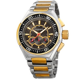 Akribos XXIV Men's Quartz Chronograph Two-Tone Bracelet Watch