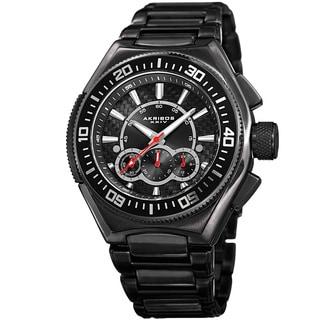 Akribos XXIV Men's Quartz Chronograph Black Bracelet Watch