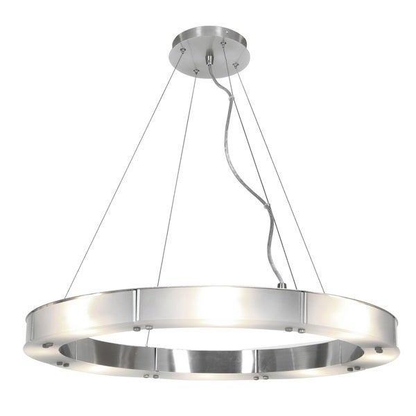 Access Lighting Oracle Steel 28 inch LED Ring Chandelier