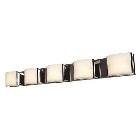 Access Lighting Nitro 2 Steel 5 Light LED Vanity