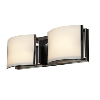 Access Lighting Nitro 2 Steel 2 Light LED Vanity
