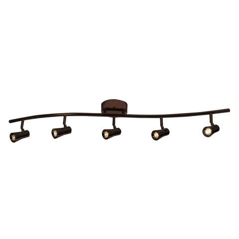 Access Lighting Sleek Bronze 5 Light LED Spotlight Semi-flush Mount