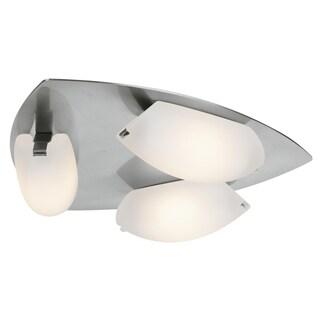 Access Lighting Nido Matte Chrome 3-light LED Vanity/ Flush Mount