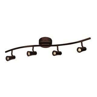 Access Lighting Sleek Bronze 4 Light LED Spotlight Semi-flush Mount