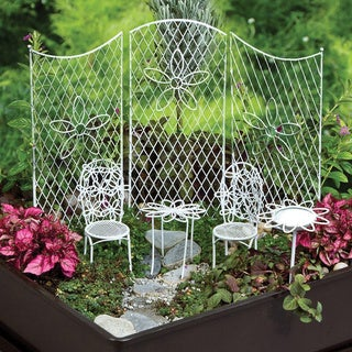 Al Fresco White Metal Furniture Set