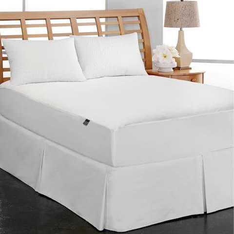Elle Coral Fleece Waterproof Mattress Pad - White