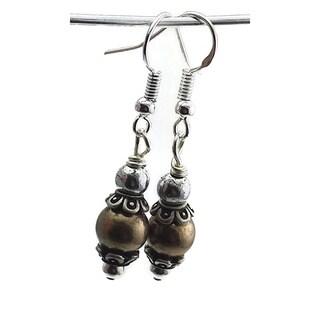 Mama Designs Sterling Silver Handmade Drop-style Earrings