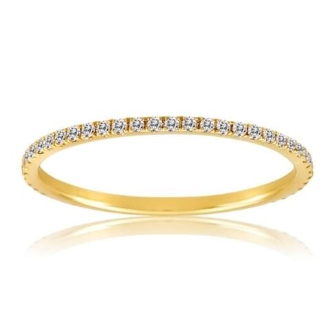 14K Yellow Gold Eternity Band with Diamonds