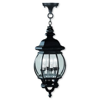 Livex Lighting Frontenac Black 4-light Chain Lantern