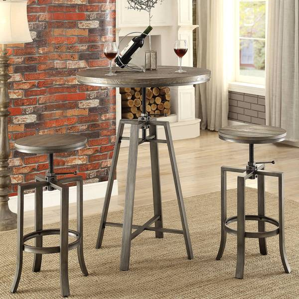 Shop Corkscrew Industrial Design Adjustable Dining Bar Pub Set