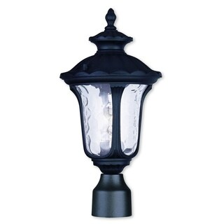 Livex Lighting Oxford Black Aluminum 1-light Outdoor Post Lantern
