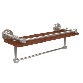 Allied Brass Dottingham Collection Brass/Wood Wall Shelf
