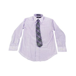Nautica Boy's Purple Dress Shirt (Size 8 US)
