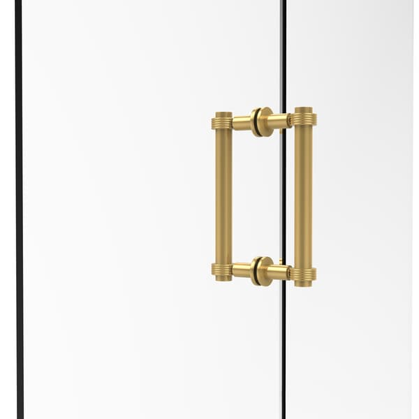 Allied Brass Contemporary 8-inch Back-to-back Grooved Accent Shower Door Pull