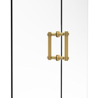 Allied Brass Contemporary 6-inch Back-to-back Shower Door Pull with Dotted Accent