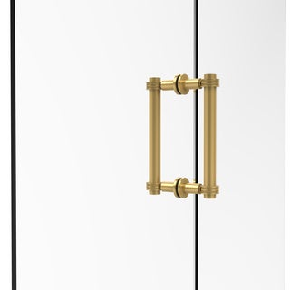 Allied Brass 8-inch Contemporary Back to Back Shower Door Pull With Dotted Accent