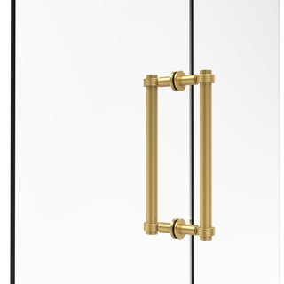 Allied Brass 12-inch Contemporary Back to Back Shower Door Pull with Grooved Accent