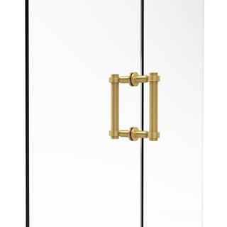 Allied Brass 6-inch Contemporary Back-to-back Shower Door Pull with Grooved Accent