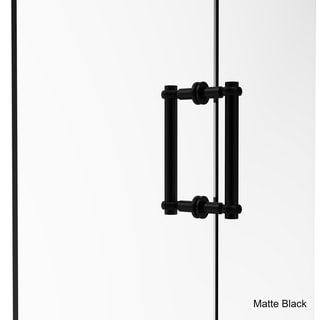 Allied Brass Contemporary 8-inch Back-to-back Twisted Accent Shower Door Pull
