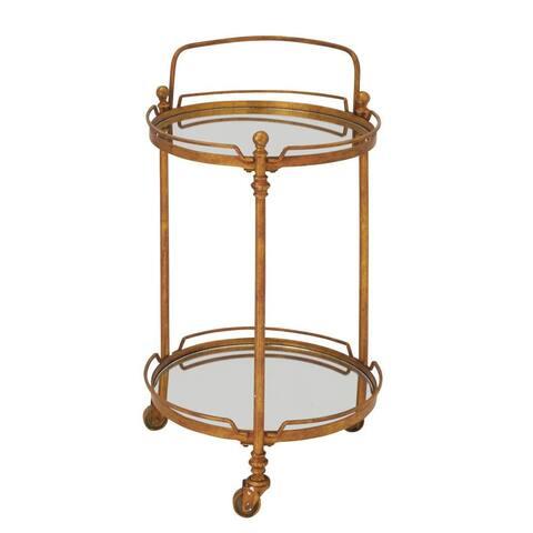 Mirrored Metal 18-inch x 31-inch Cart - Bronze/Gold