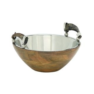 Alluring Wood and Stainless Steel Bowl